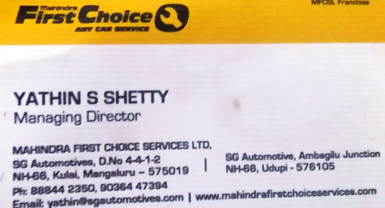 MAHINDRA FIRST CHOICE SERVICE LTD