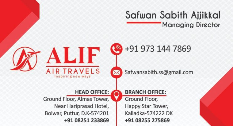 Alif Air Travels