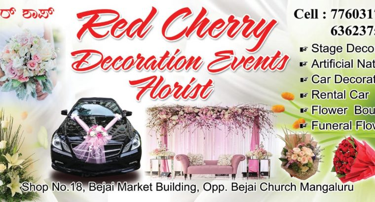 Red Cherry Decoration Event Florist