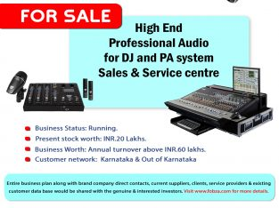 Professional DJ Audio and PA system Sales & Service center for sale.