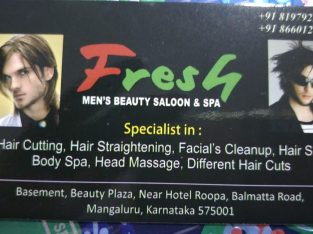 Fresh – Mens Beauty Salon and Spa
