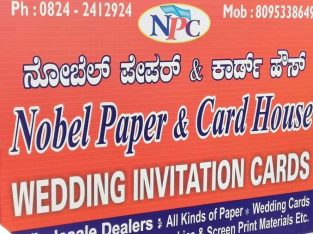 Nobel Paper & Card House