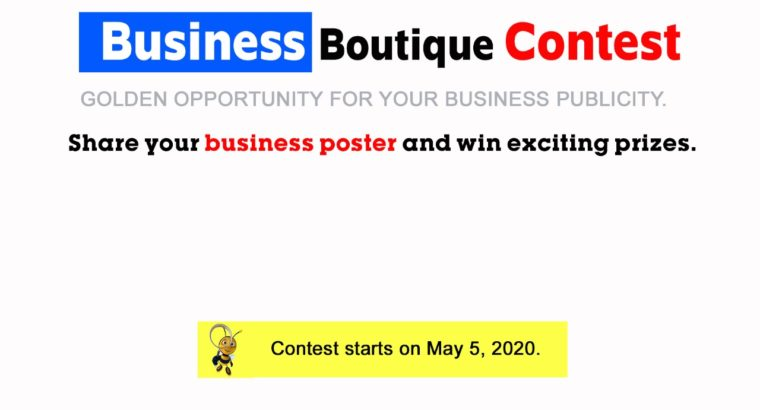 Business Boutique Contest. A ray of hope for Businessman.